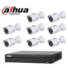 8 KAMERALI 2MP IPC-HFW1225SP-L POE FULL HD DAHUA ALHUA IP SET